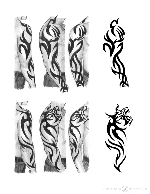 Tribal Tiger Sleeve Tattoo Designs By Adams Twins On Deviantart