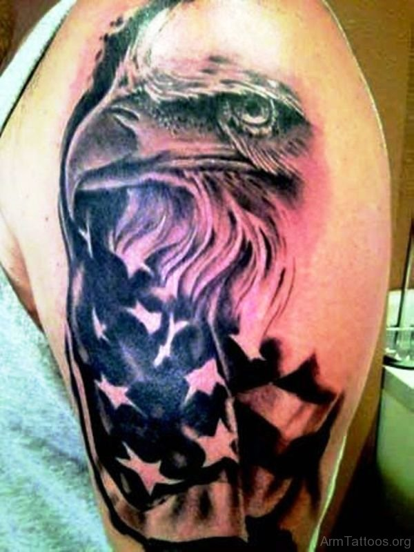 de631b3ec 95+ Bald Eagle With American Flag Tattoos & Designs With Meanings
