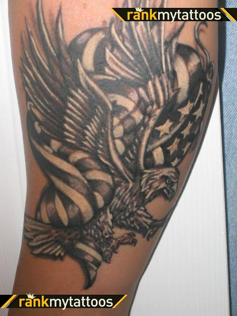 95 Bald Eagle With American Flag Tattoos Designs With Meanings