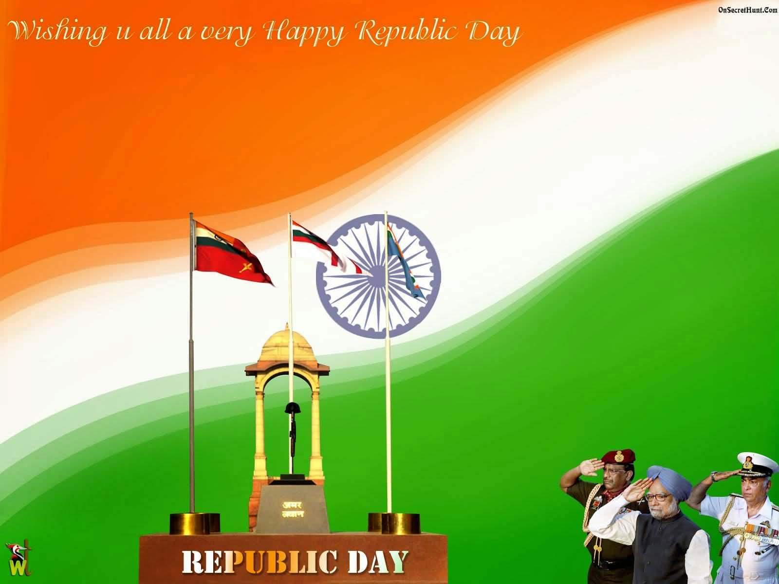 50 best happy republic day india greeting picture ideas wishing you all a very happy republic day m4hsunfo