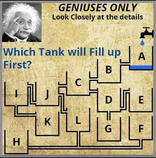 Which Tank Will Fill Up First?- Only Genius Can Answer