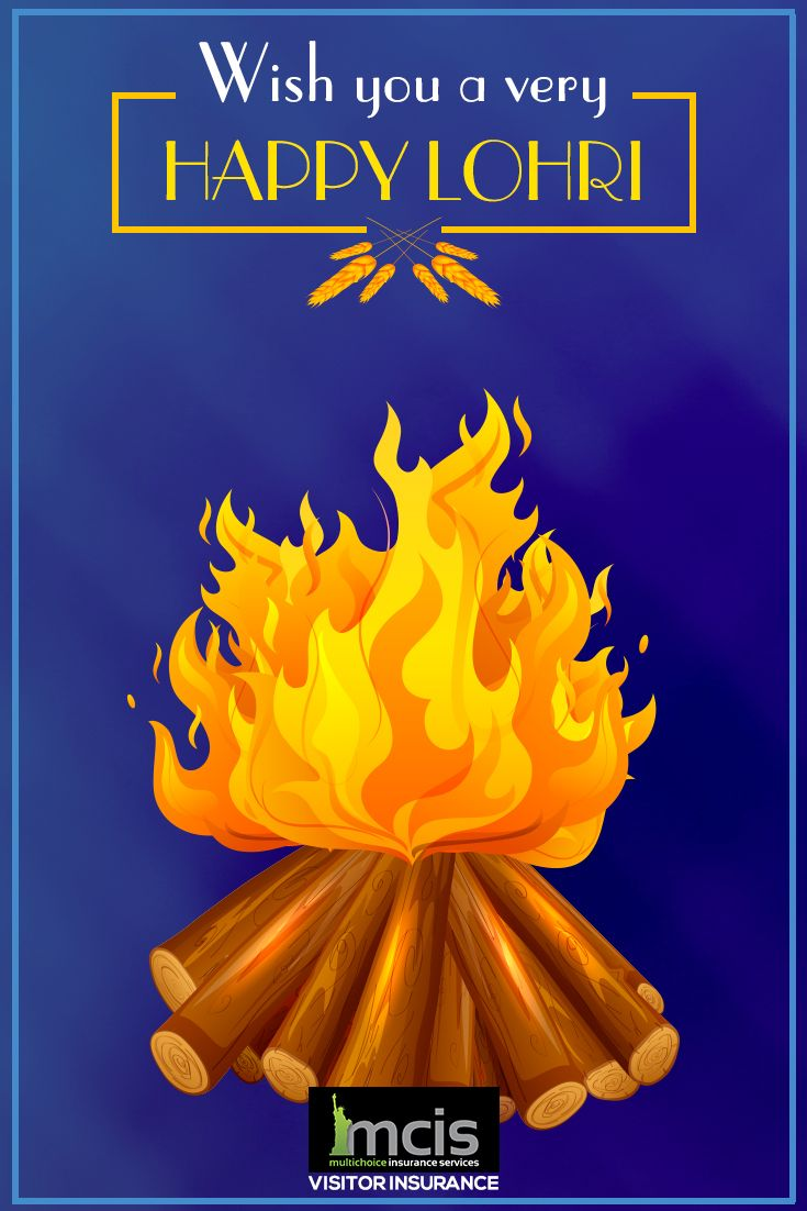 Wish You A Very Happy Lohri Greeting Card