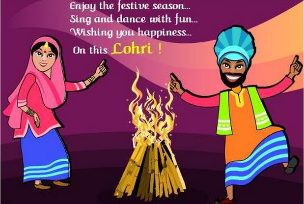 Wishing You Happiness On This Lohri Punjabi Couple Picture