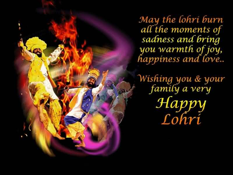 Wishing You & Your Family A Very Happy Lohri Card