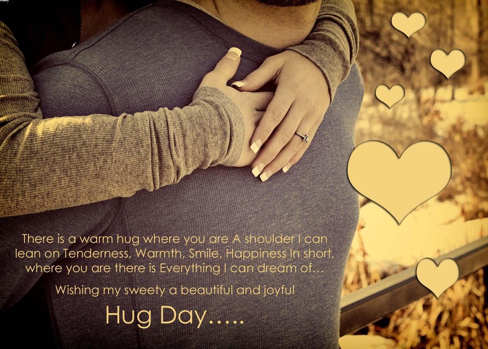 Wishing you Happy Hug Day wallpaper