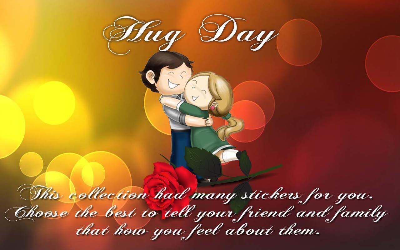 World Hug Day Greeting Card