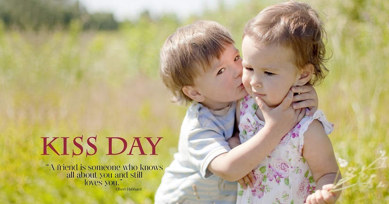 A friend is someone who knows all about you and still loves you Happy Kiss Day