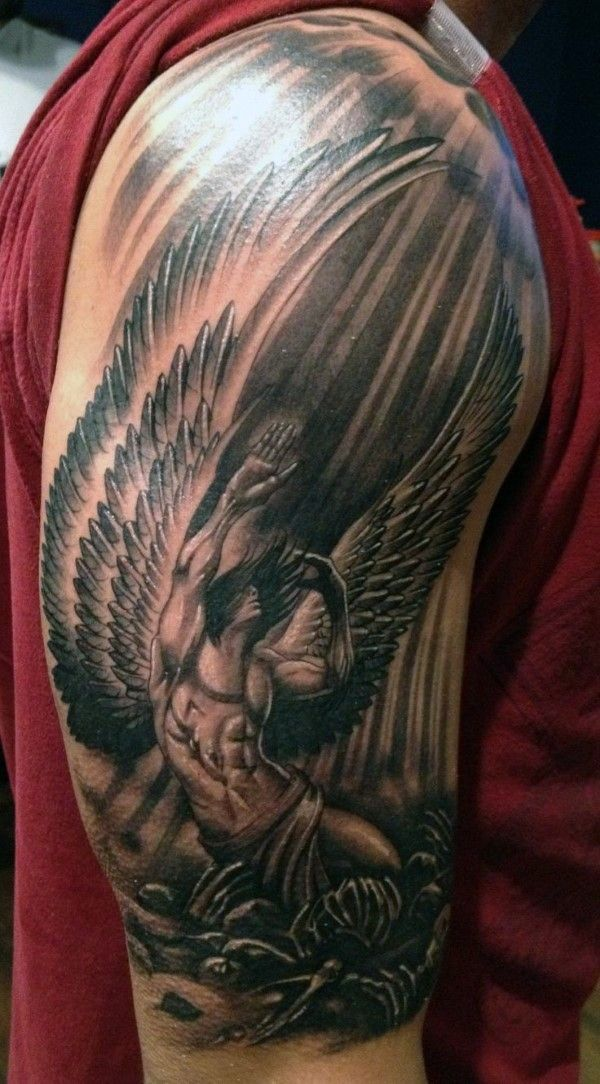105+ Remarkable Guardian Angel Tattoo Ideas & Designs With ...