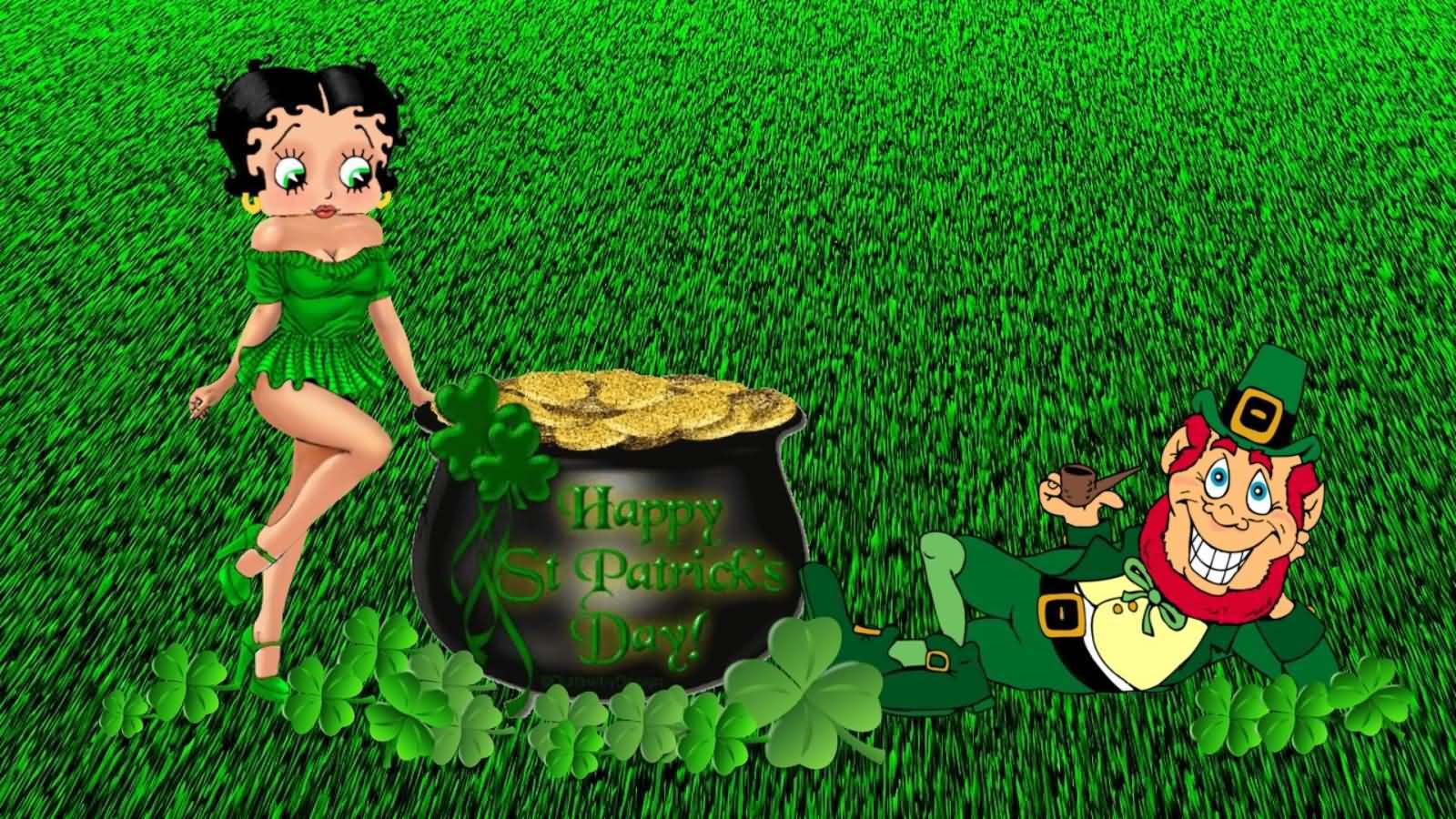 Betty Boop Wishes You Happy St Patrick S Day Wallpaper