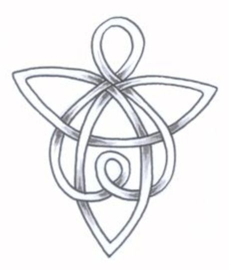 celtic guardian angel symbol tattoo design