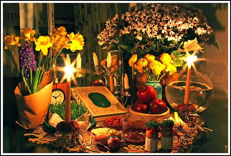 60 most beautiful nowruz greeting pictures and photos dining table decoration for persian new year nawroz m4hsunfo