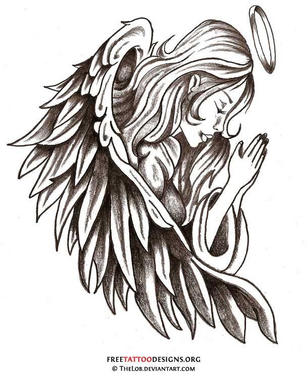 105 remarkable guardian angel tattoo ideas designs with meanings. Black Bedroom Furniture Sets. Home Design Ideas