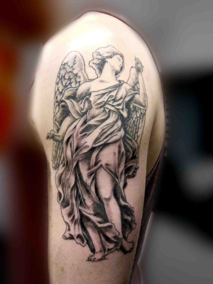 101 Best Angel Tattoos For Men: Cool Designs + Ideas (2020 ...   Guardian Angels Tattoos Sleeve