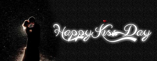 Happy Kiss Day facebook cover image