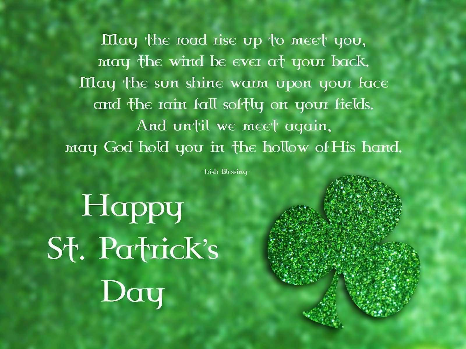 Happy St Patrick S Day Beautiful Clover Leaf Wallpaper