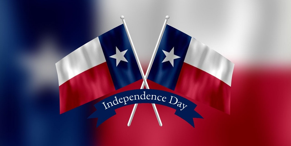 Happy Texas Independence Day Flags Cross Picture