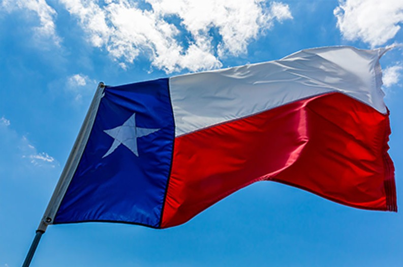 Happy Texas Independence Day Waving Flag picture