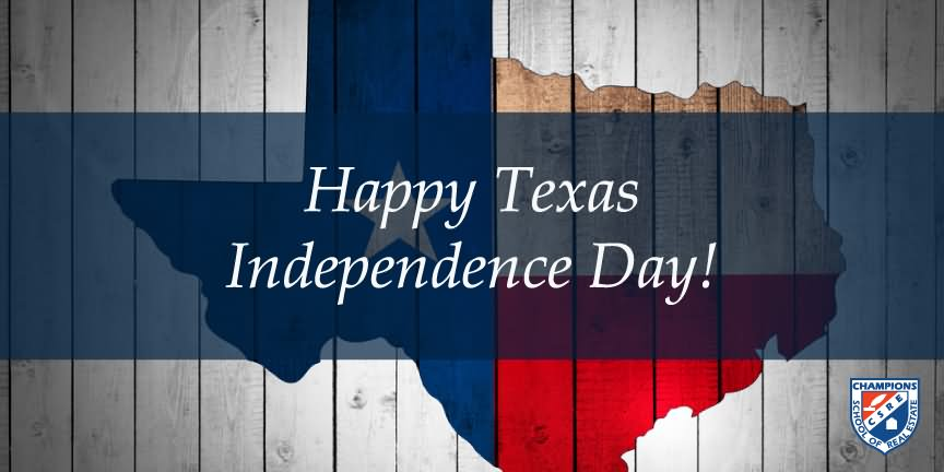 Happy Texas Independence Day map in background