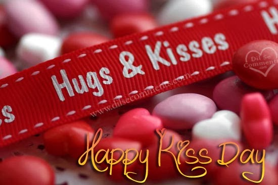 Hugs and Kisses red band Happy Kiss Day