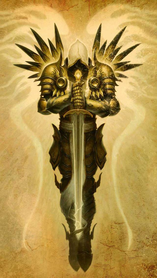 Impressive Design Of Powerful Protector Guardian Angel Tattoo