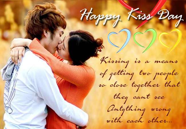 Kissing is a means of getting two people so close together that they can't see anything wrong with each others Happy Kiss Day