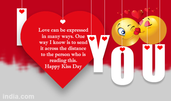 30 Happy Kiss Day Pictures Wallpapers For Lover Special: 60+ Best Kiss Day Wish Picture Ideas