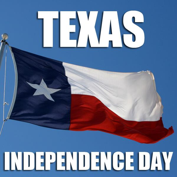 Texas Independence Day Waving Flag Of Texas