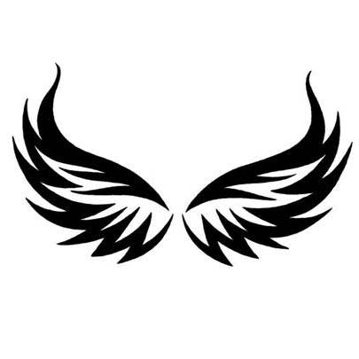 Tribal Eagle Wings Tattoo Design