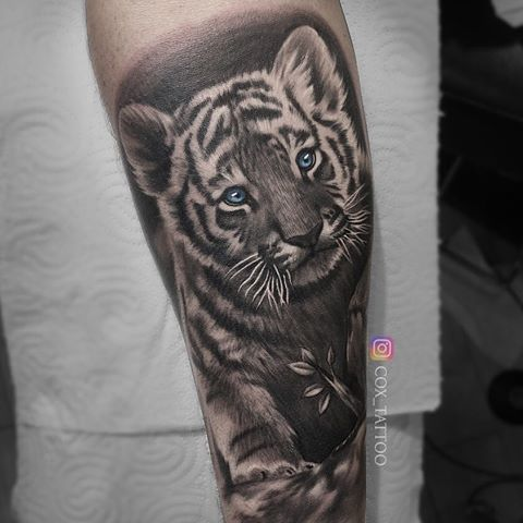 60 best baby tiger cubs tattoos designs with meanings rh askideas com baby white tiger tattoos baby tiger cub tattoos