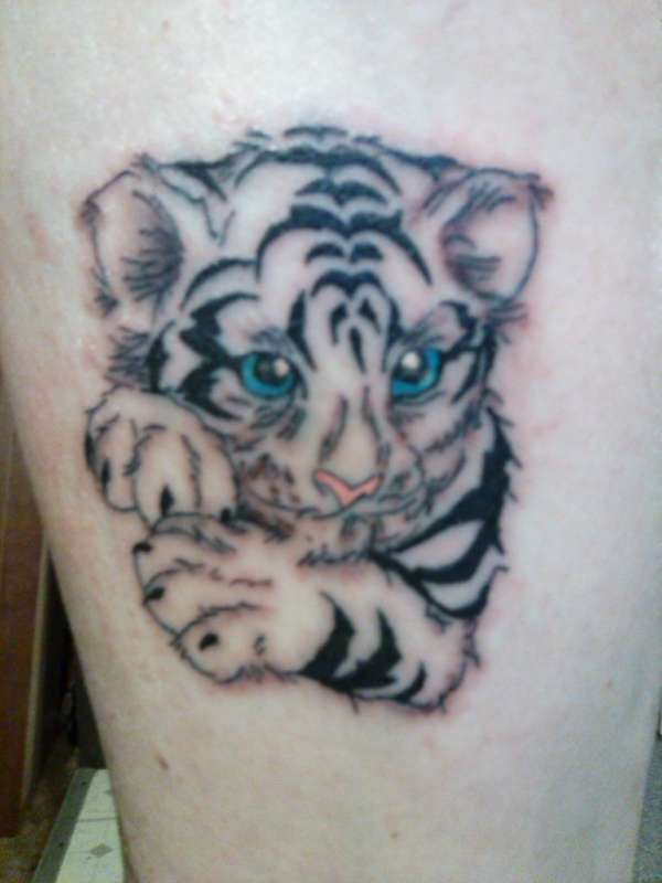 60 best baby tiger cubs tattoos designs with meanings for Small tiger tattoos