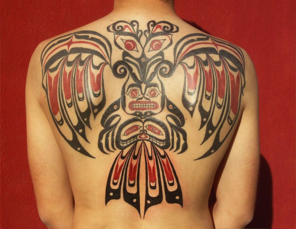 50 incredible haida eagle tattoos designs with meanings. Black Bedroom Furniture Sets. Home Design Ideas