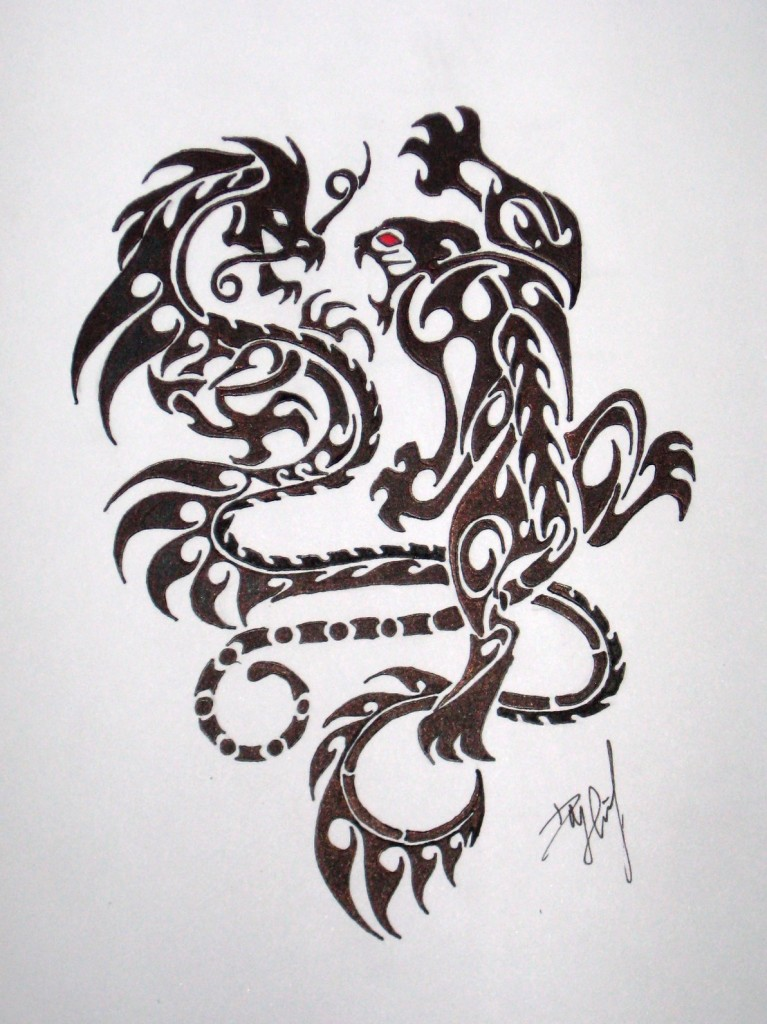 45 dragon and tiger tattoos designs with meanings. Black Bedroom Furniture Sets. Home Design Ideas
