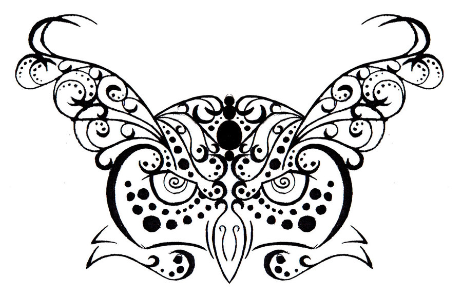 Amazing Tribal Owl Tribal Henna Composition Tattoo Design By