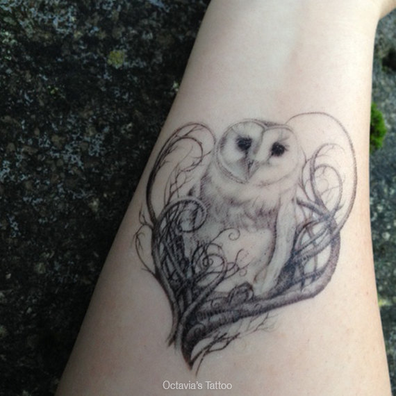 92d0b93bc32b8 85+ Best Barn Owl Tattoos & Designs With Meanings