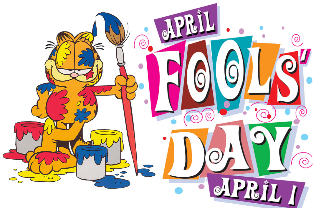April Fools Day april 1 garfield cat with paint