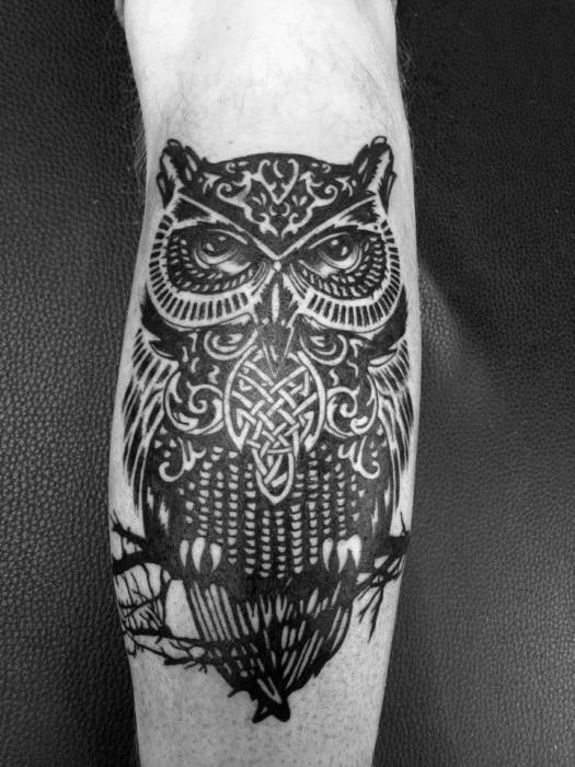21 Best Celtic Owl Tattoos Designs