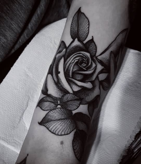 80+ Black Rose Tattoos and Design With Meanings