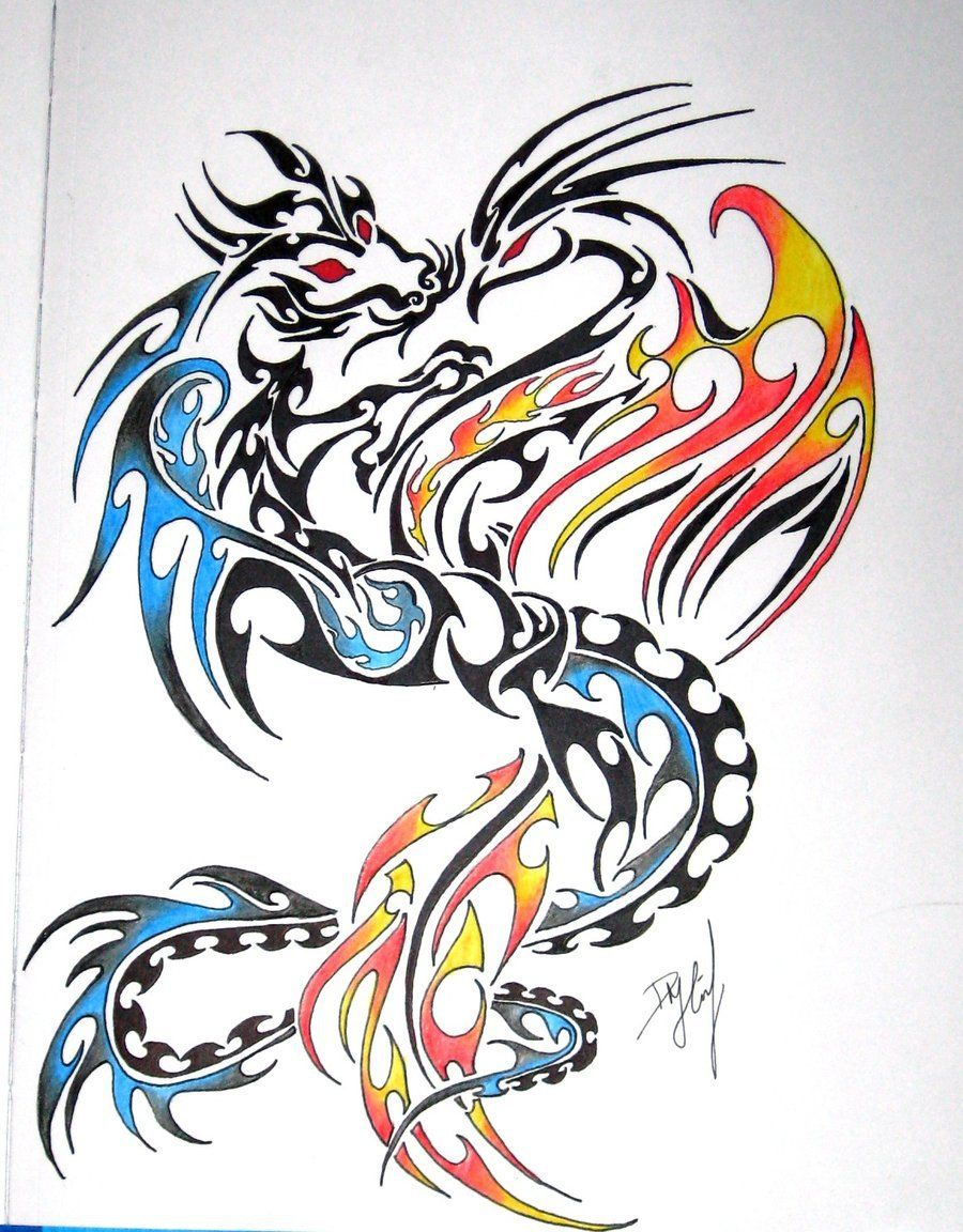 51 Dragon Phoenix Tattoos Designs With Meanings