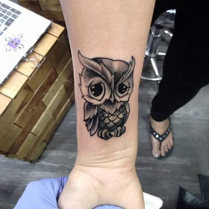 Owl Tattoos On Wrist: 70+ Best Baby Owl Tattoo Designs & Ideas With Meanings