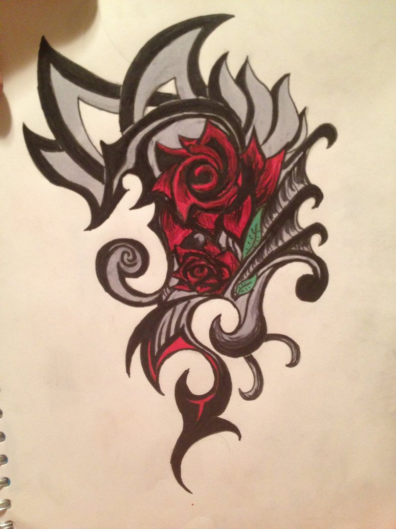 8d6c1a825 Rose Tribal Tattoo by SwimAngel7673 On DeviantArt