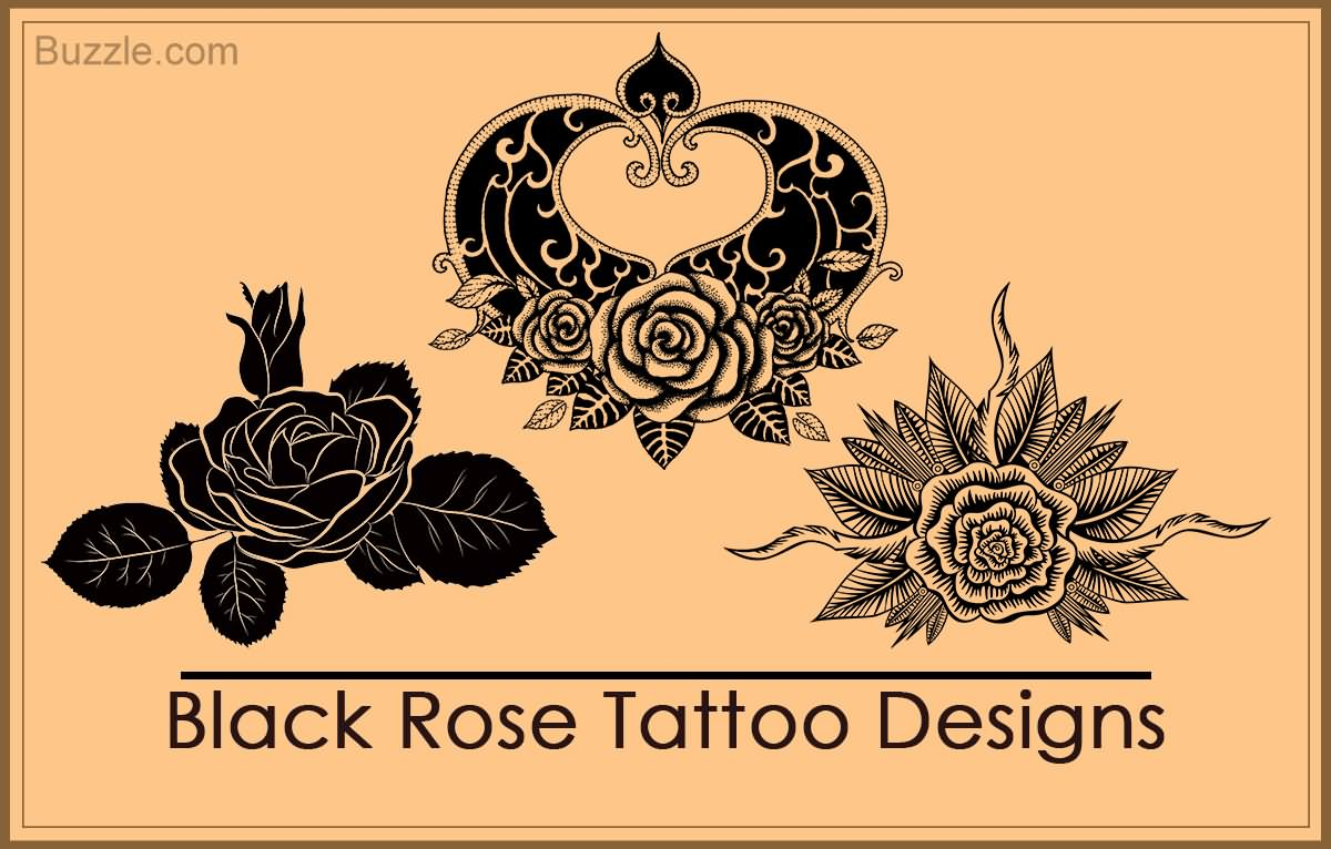 80 black rose tattoos and design with meanings. Black Bedroom Furniture Sets. Home Design Ideas