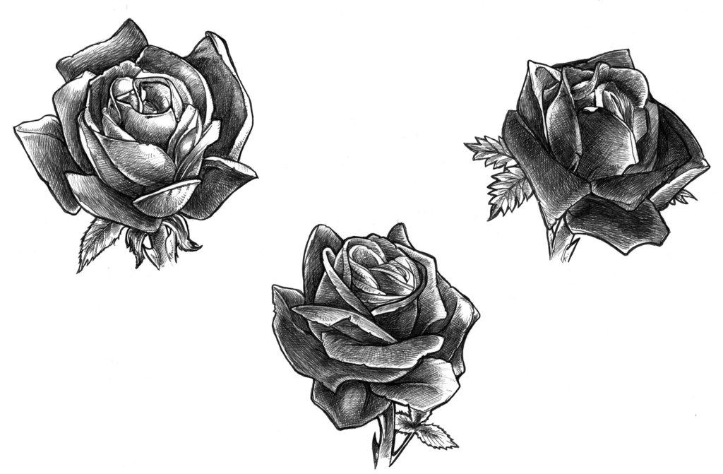 Three Black Rose Tattoo Designs By Gitoku On Deviantart