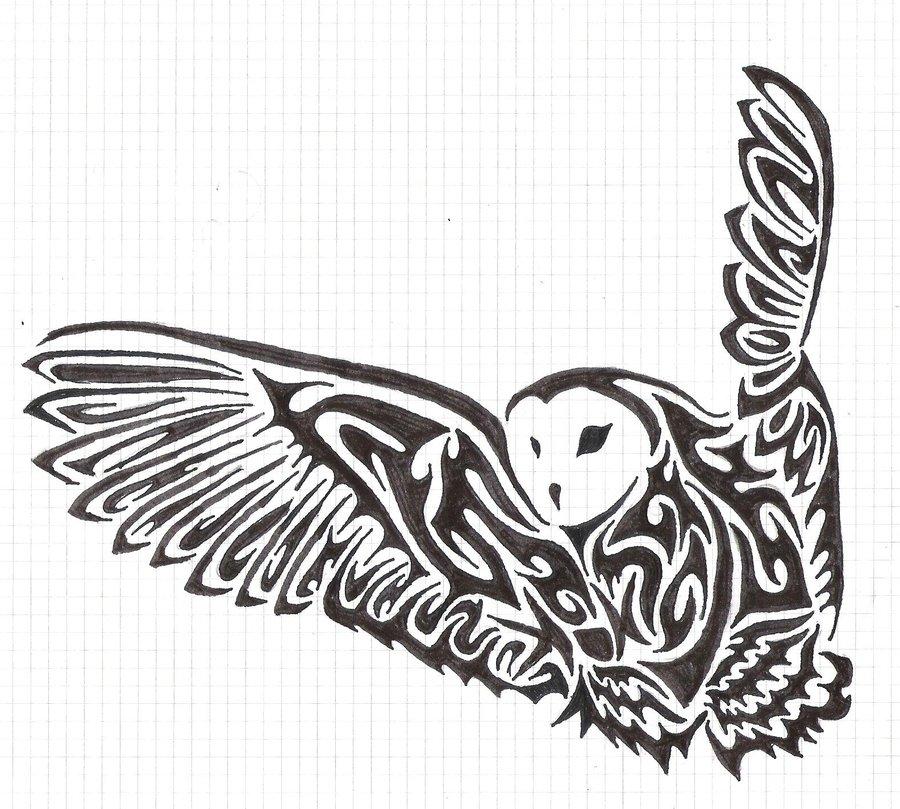fbebddb1f Tribal Owl Tattoo Design by fensterfisch on DeviantArt