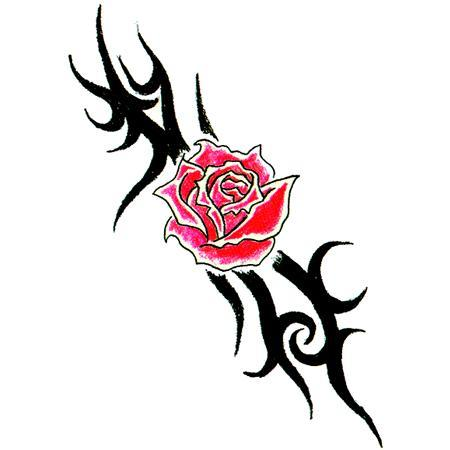 tribal pink rose tattoo design. Black Bedroom Furniture Sets. Home Design Ideas