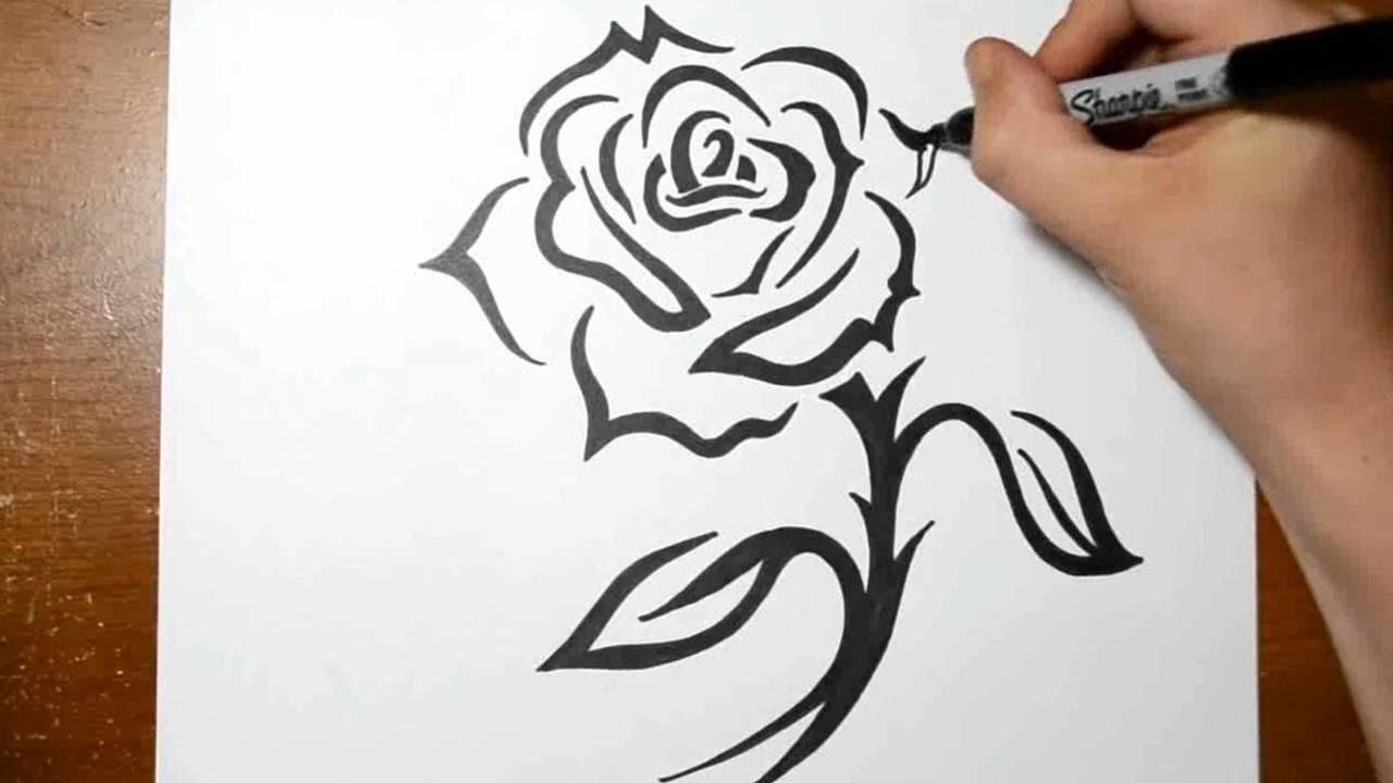 75 Tribal Rose Tattoo Ideas Designs