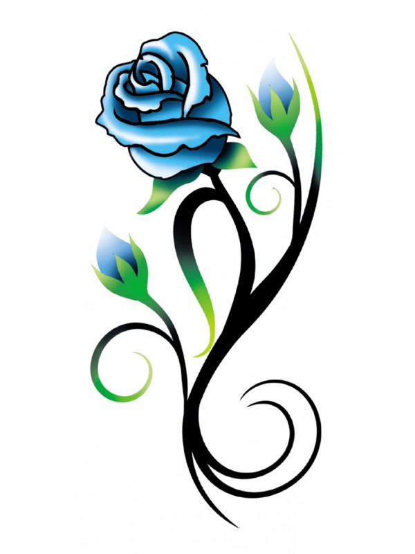 75 tribal rose tattoo ideas designs for Rose with stem tattoo designs