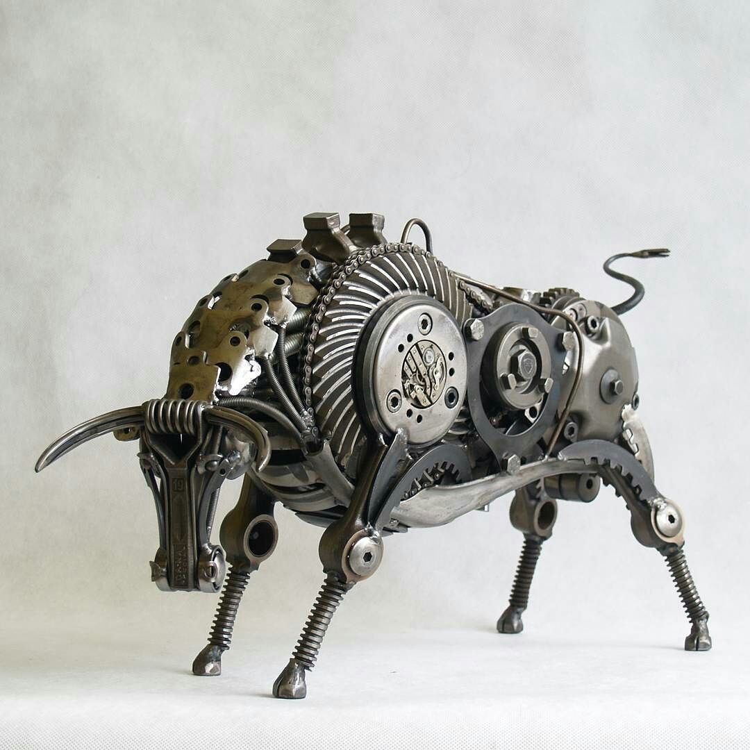 Metal art scrap sculptures