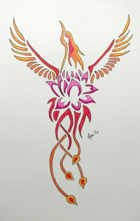 15 Phoenix Lotus Tattoo Ideas Designs