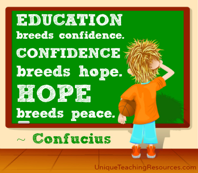 Confidence Breeds Hope. Hope Breeds Peace. Confucius