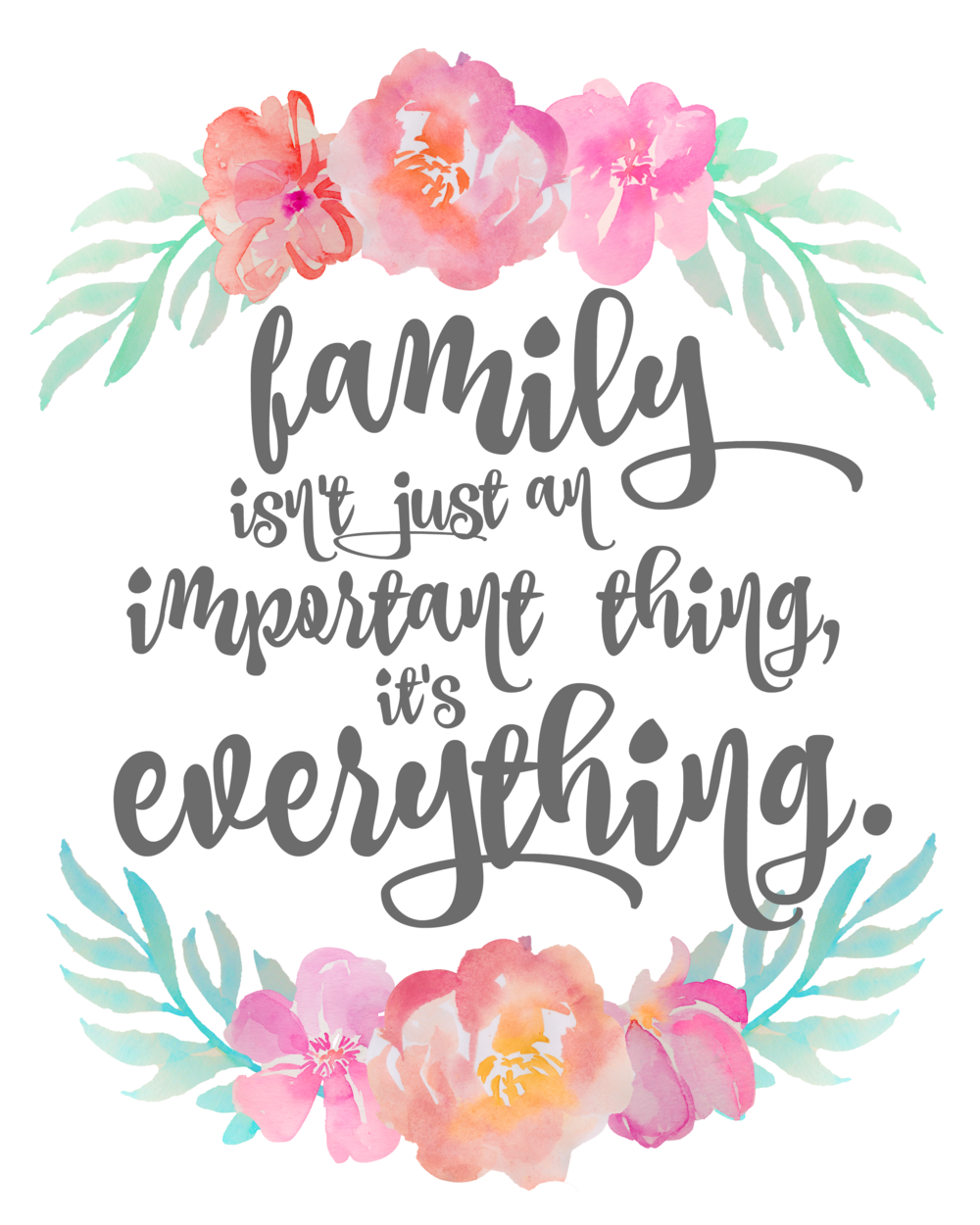 Family Isn't Just An Important Thing, It's Everything